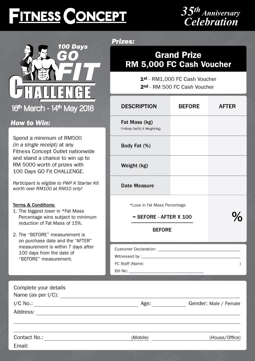 100 Days Go Fit Challenge
