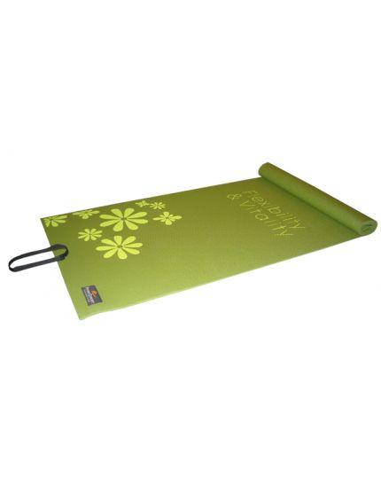 """FC Yoga Mat 1/4"""" (Green) Floral"""