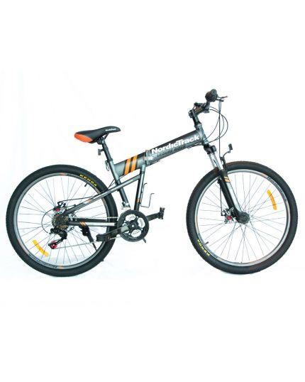 """Nordictrack Folding Bike 26""""-Grey"""