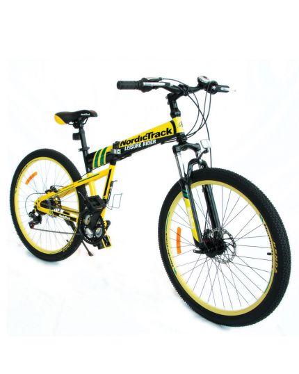 """Nordictrack Folding Bike 26""""-Yellow"""